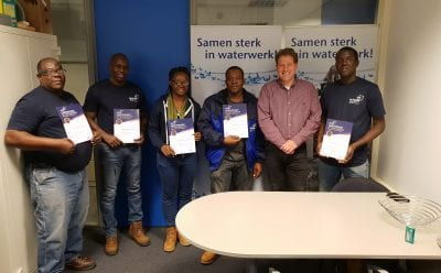 Graduation of the GWI staff for the training basic well maintenance Martin Bloemscheer