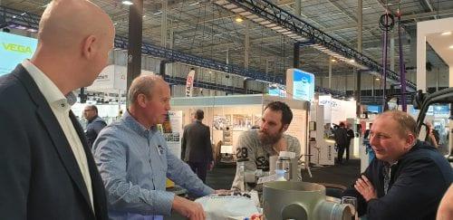 Carl van Rosmalen op de Aqua Nederland Vakbeurs